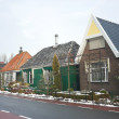 Street with traditional Dutch houses — Stock Photo
