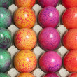 Spotty Dyed Eggs for Easter - Stock Photo