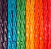 Rainbow Licorice-YUM! — Stock Photo