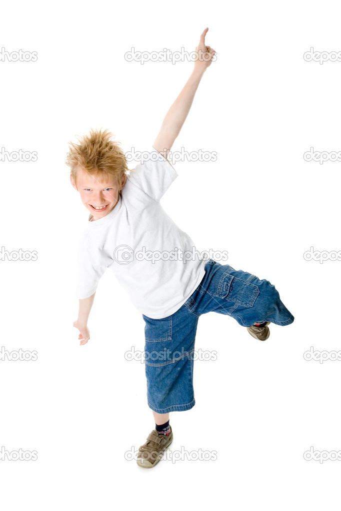 The dancing boy — Stock Photo #1303051