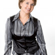 The business woman on the white backgrou — Stock Photo