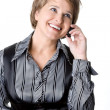 The business woman speaks by phone — Stock Photo