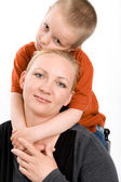 Five years old boy and his mother — Stock Photo