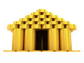 Golden building. Front view — Stock Photo