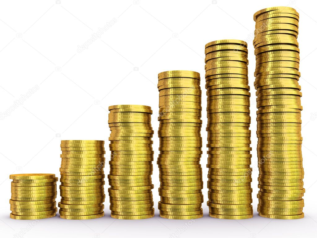 Coins chart — Stock Photo #1571847