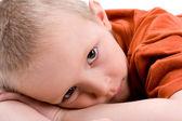 A portrait of a sad child — Stock Photo