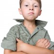 Serious boy with crossed hands — Stock Photo #1781967