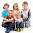Stock Photo: Group of five children