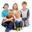 Stock Photo: The group of five children
