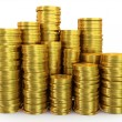 Stock Photo: Stacks of gold coins