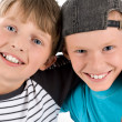Schoolboys best of friend — Stock Photo