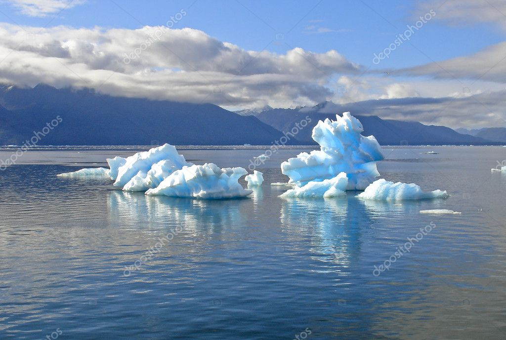 Icebergs from the San Rafael Glacier in Patagonia, Chile  Stock Photo #1306684