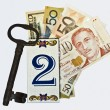 Key 2 money — Stock Photo