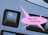 Where is the Escape key — Stock Photo