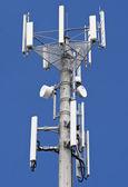 High telecommunications transmitter — Stock Photo