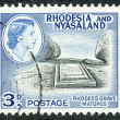 Rhodesia and Nyasaland postage stamp - Stock Photo