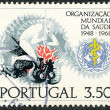 Portuguese postage stamp — Stock Photo