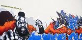 Segment of a colorful graffiti on urban — Stock Photo