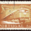 Portuguese postage stamp - Stock Photo