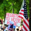 Stock Photo: Voters registration booth.