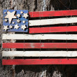 Stock Photo: Wooden americflag.