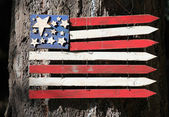 Wooden american flag. — Foto de Stock
