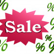 Stock Photo: 3d sale and percent signs