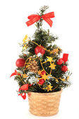 Christmass tree in over white background — Stock Photo