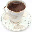 Coffee cup in over plate — Stock Photo #1310552