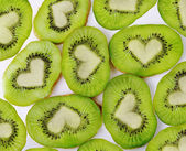 Kiwi heart — Stock Photo