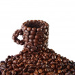 Stock Photo: Cup from coffee grains