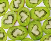 Kiwi heart — Stock Photo