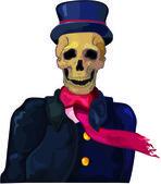 Dead gentelman — Stock Vector