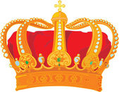 Monarch crown — Stock Vector
