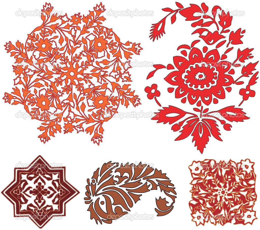 Indian patterns vector - photo#10
