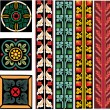 Stock Vector: Medieval Europe patterns