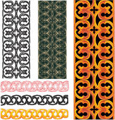 Vector set of medieval european patterns — Stock Vector