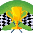 Stock Vector: Race cup
