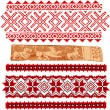 Stock Vector: Baltic traditional patterns