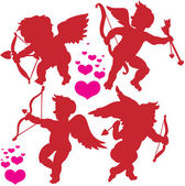 Cupid postures — Stock Vector