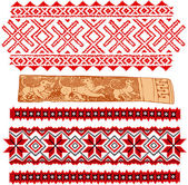 Baltic traditional patterns — Stock Vector