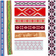Stock Vector: Traditional baltic patterns