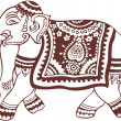 Постер, плакат: Indian domestic elephant design
