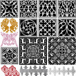 Medieval patterns pack — Stock Vector