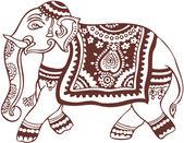 Indian domestic elephant design — Stock Vector