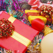 Background from Christmas ornaments and — Stock Photo #1302467