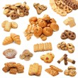 Collage from cookies isolated on white b — Stock fotografie