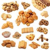 Collage de cookies isolés sur blanc b — Photo