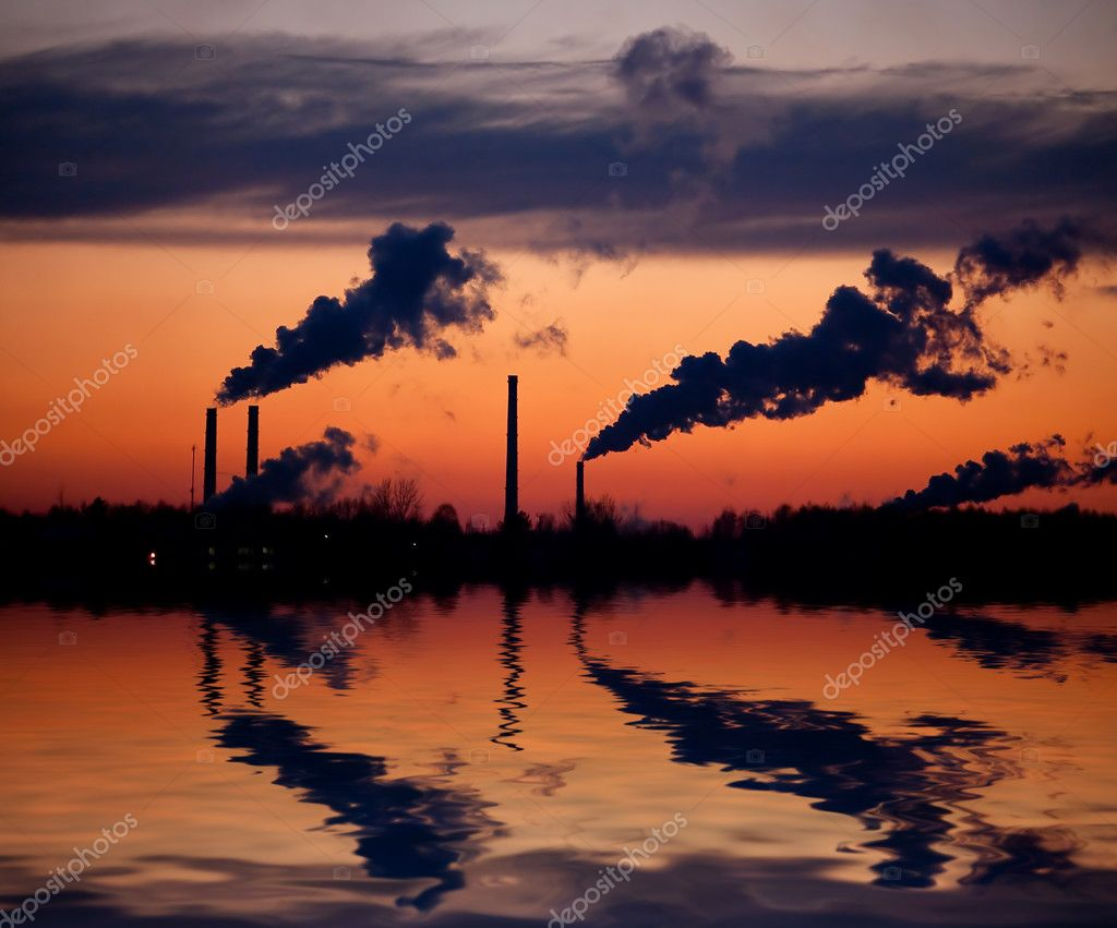 Pipes with a smoke on a decline — Stock Photo #1314060