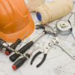 Building tools on the house project — Stock Photo #1365945